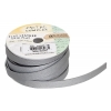 Flat Leather 10x2mm (5m Spool) Metallic Silver